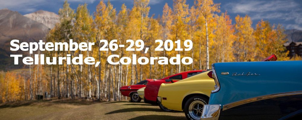 Cars and Colours Festival Telluride 2019